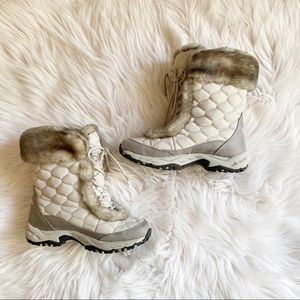 LL Bean Quilted Lace-up Winter Boots-Size 7